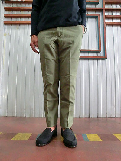 D.C.WHITE Gabardine Chino Basic Pants ギャバジンチノパンツ Olivey