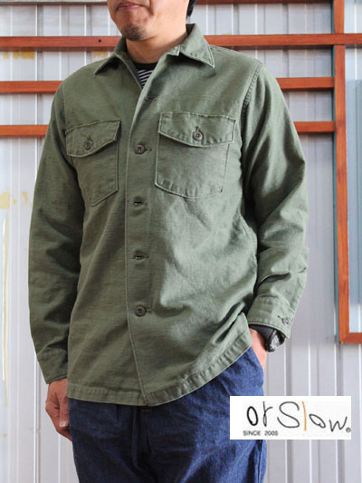 orslow (オアスロウ)03-8045 US ARMY SHIRTS アーミーシャツ シャツジャケット Green