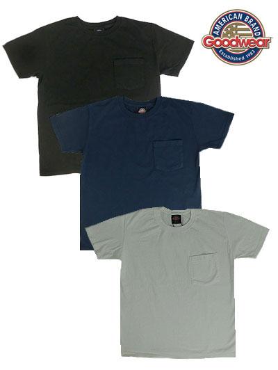 Good Wear グッドウエア 別注スリムフィット USA製 ワンウオッシュ ヘビーコットン 1ポケットTシャツ