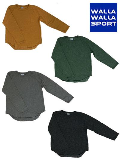 WALLA WALLA SPORT ワラワラスポーツ 別注スウェットルーズベースボールTシャツ 日本製